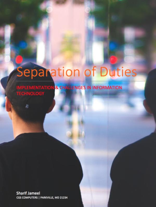 Separation of Duties eBook